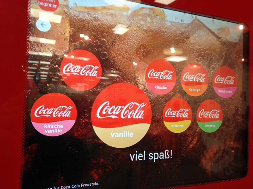 Coco-Cola-Freeway-Automat bei Five Guys in Frankfurt