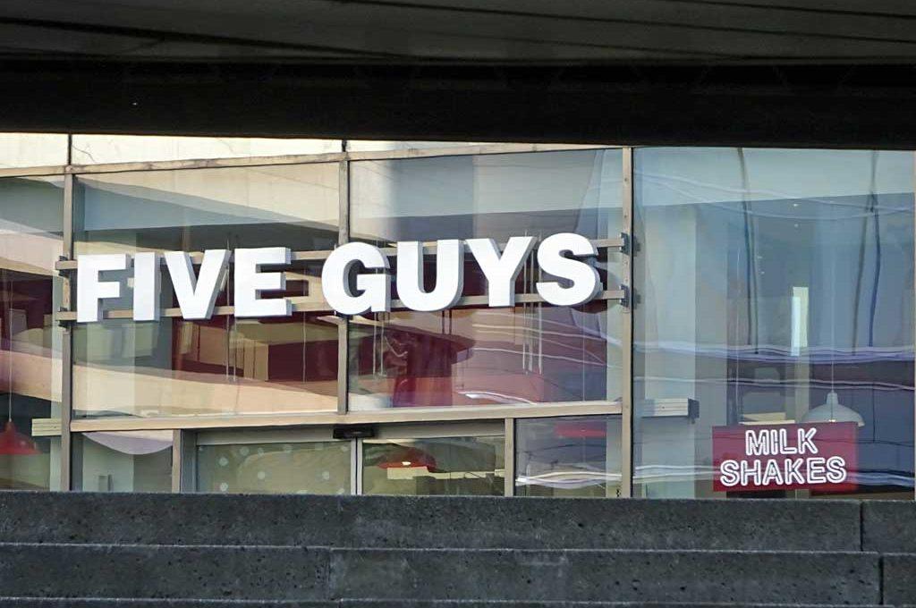 Five Guys in Frankfurt auf der Zeil