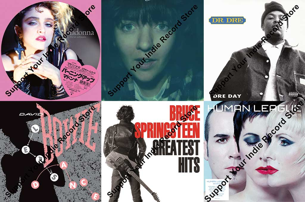 Plattencover einiger Schallplatten, die zum Record Store Day in Deutschland erhältlich sind.