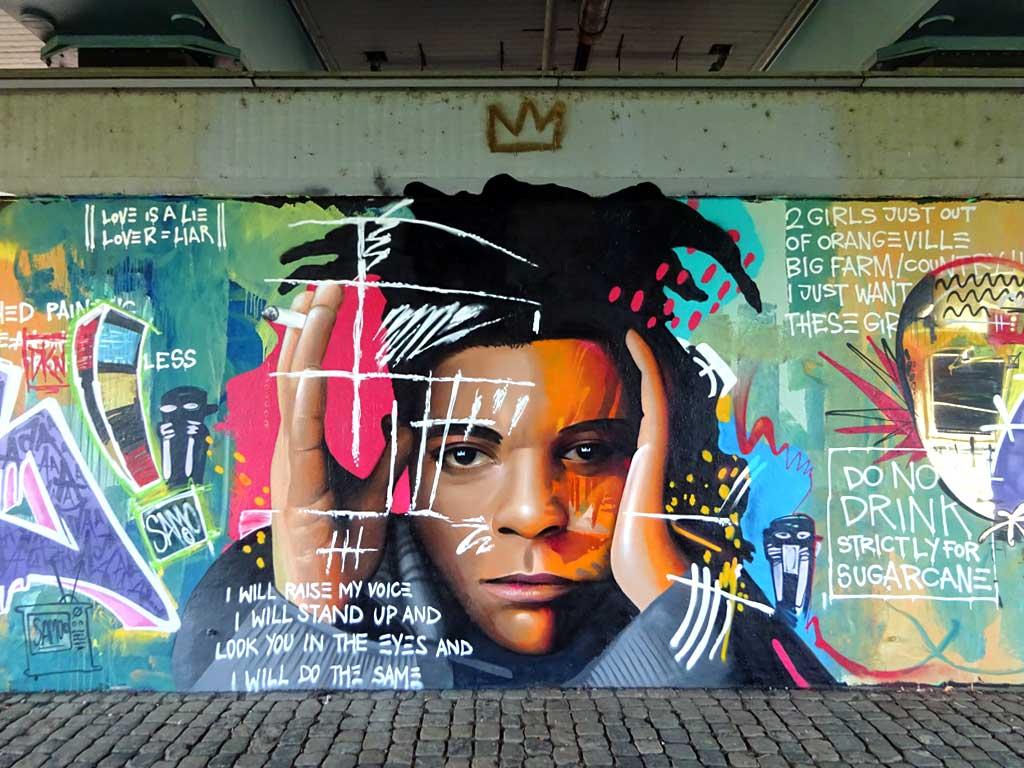 Basquiat-Mural in Frankfurt