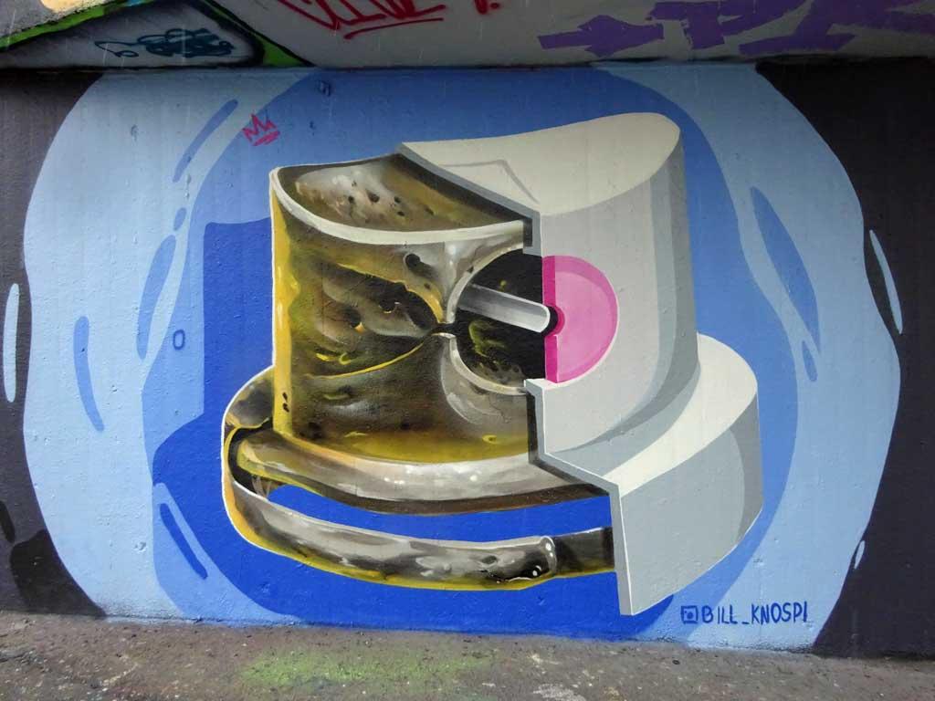 Graffiti eines Sprühkopfs