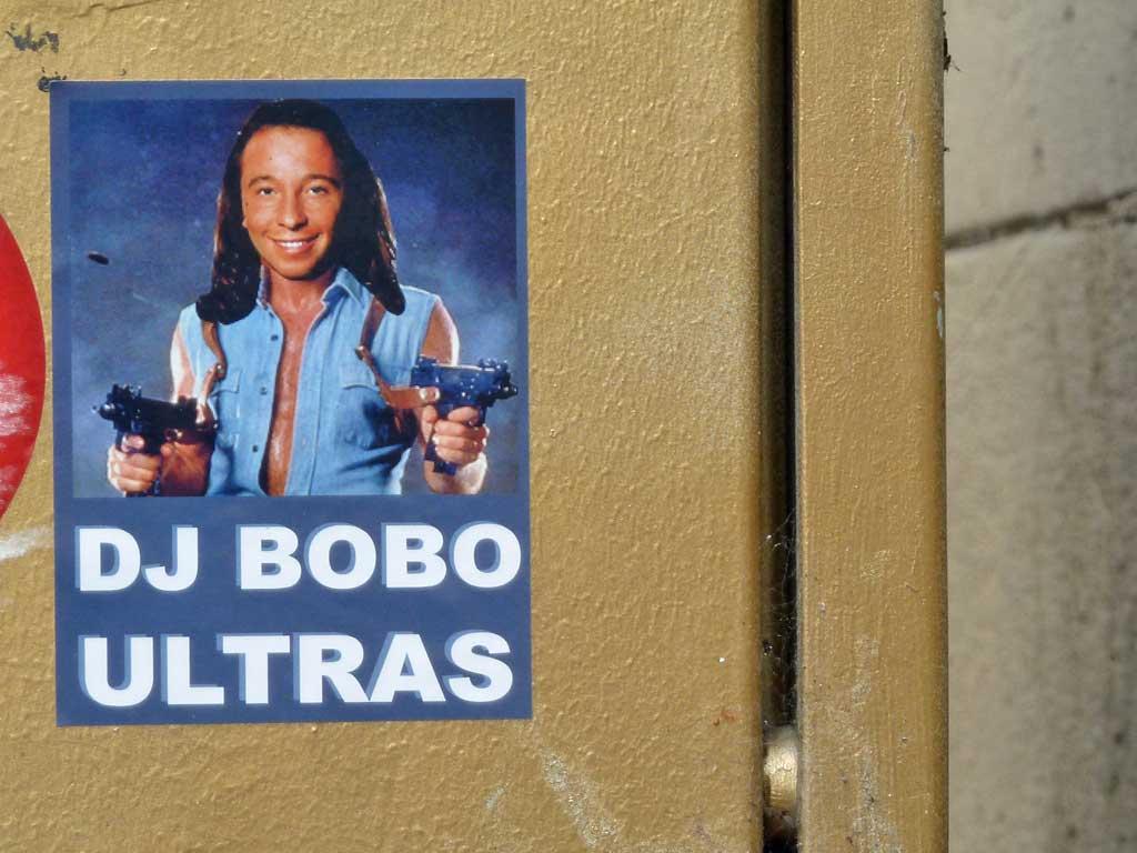 DJ BOBO ULTRAS-Aufkleber Chuck Norris