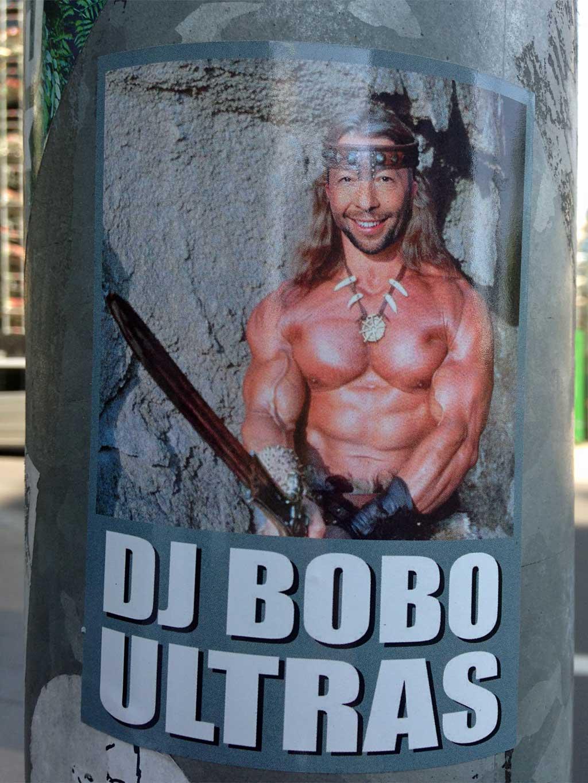 DJ BOBO ULTRAS-Aufkleber Conan der Barbar