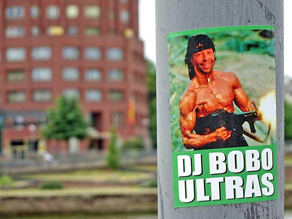 DJ BOBO ULTRAS-Aufkleber John Rambo