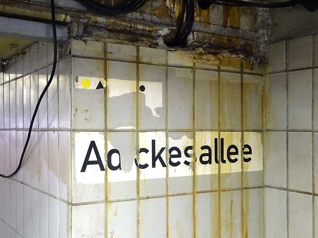Unterführung in der Adickesallee in Frankfurt am Main