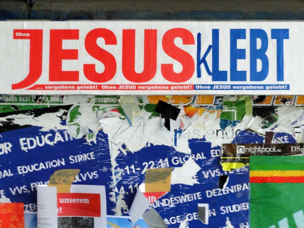 Jesus klebt
