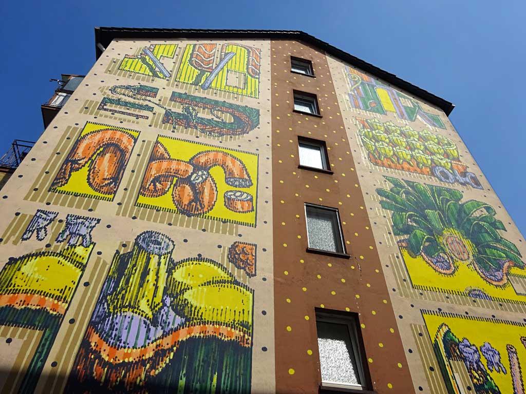 Streetart Frankfurt - Mural von HNRX im Sandweg