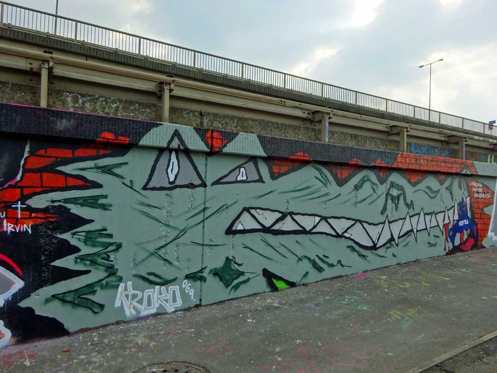 GPK-Graffiti an der Hall of Fame am Ratswegkreisel