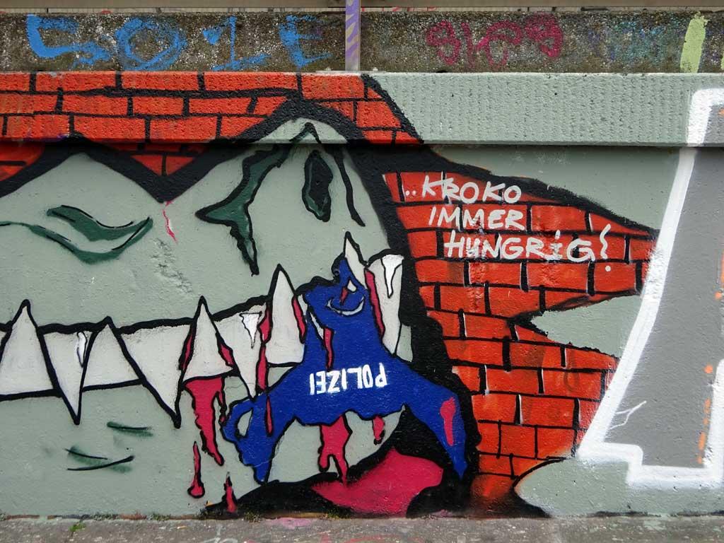 GPK-Graffiti an der Hall of Fame am Ratswegkreisel