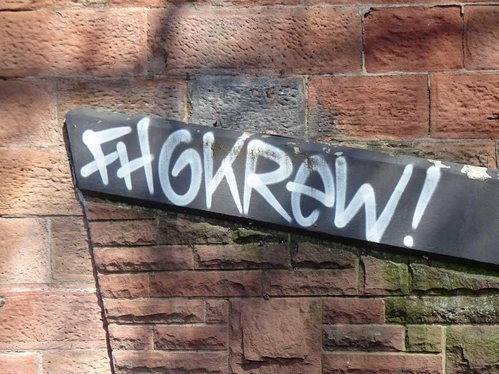 Fotoserie mit Graffiti-Tags