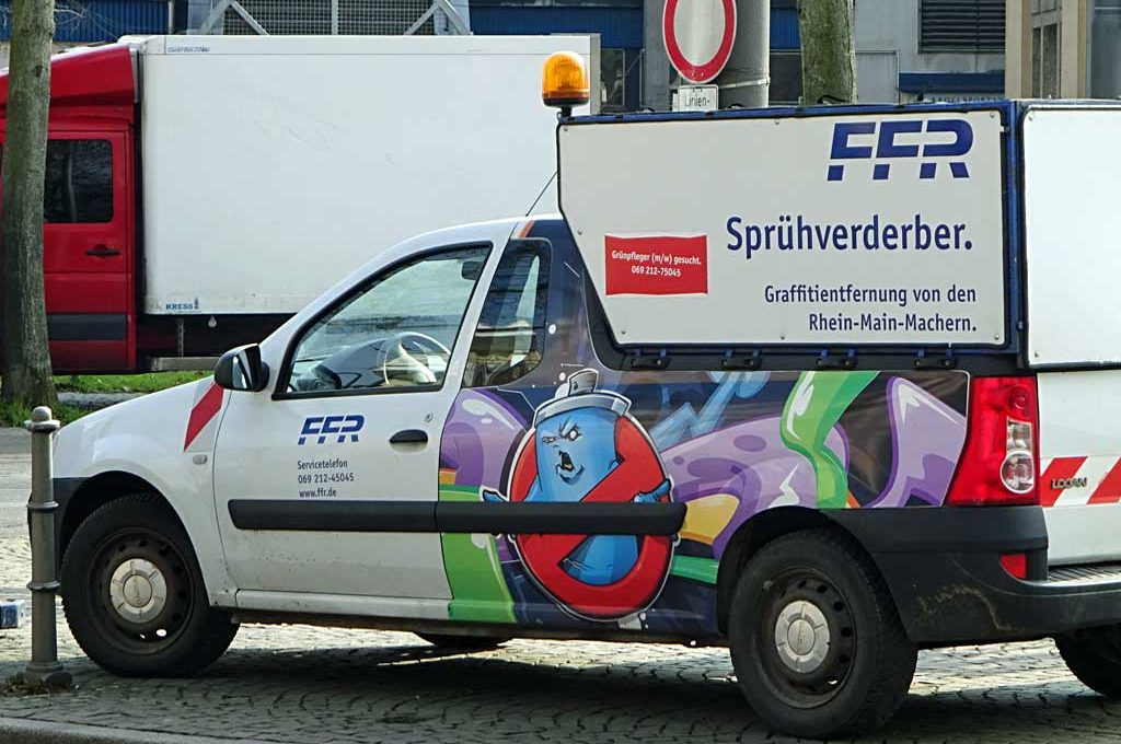 Sprühverderber-Wagen in Frankfurt
