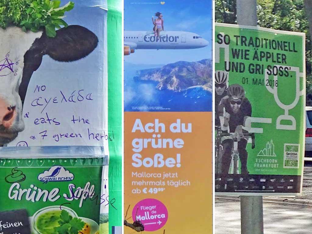 Grüne Soße in der Werbung