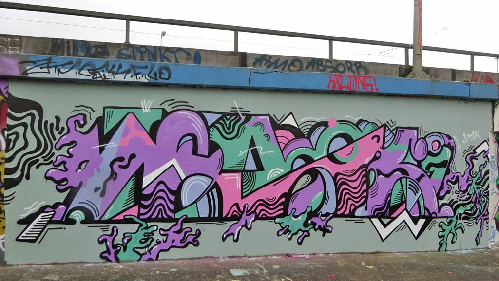 Knak-Graffiti an der Hall of Fame am Ratswegkreisel