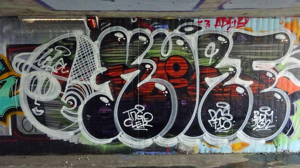 Kurt-Graffiti an der Hall of Fame am Ratswegkreisel