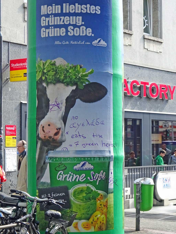 Werbung: Mein liebstes Grünzeug. Grüne Soße.
