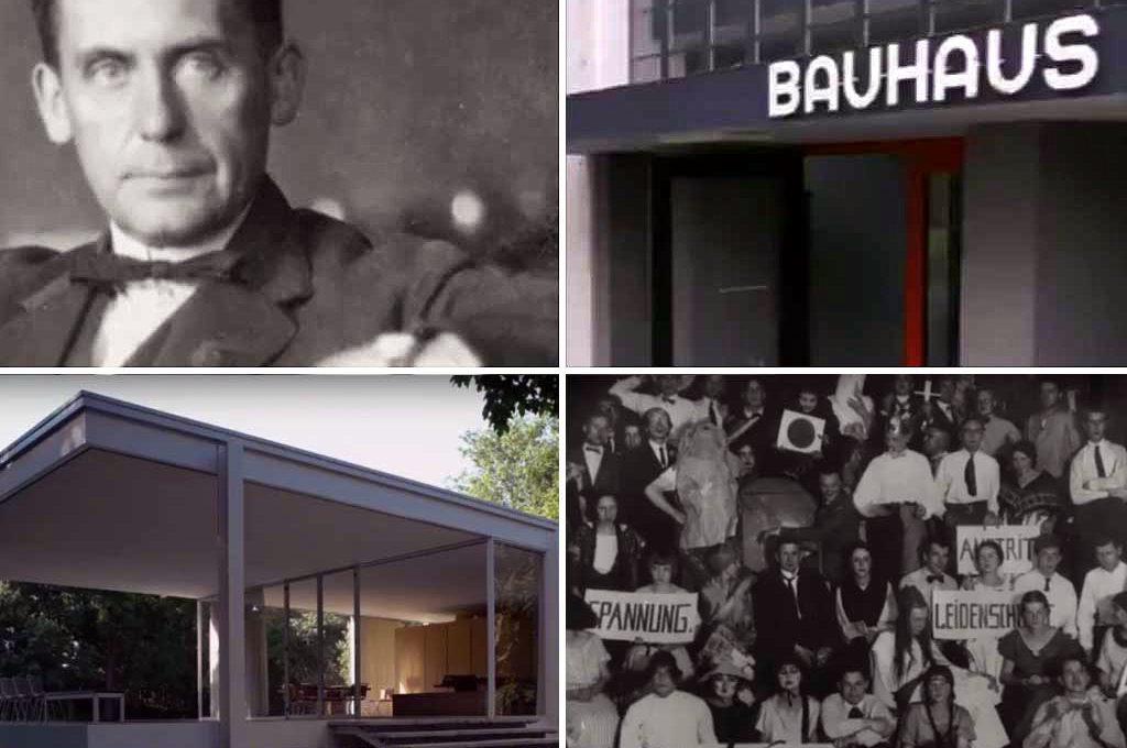 """Szenen aus dem Trailer zu """"Vom Bauen der Zukunft - 100 Jahre Bauhaus"""""""