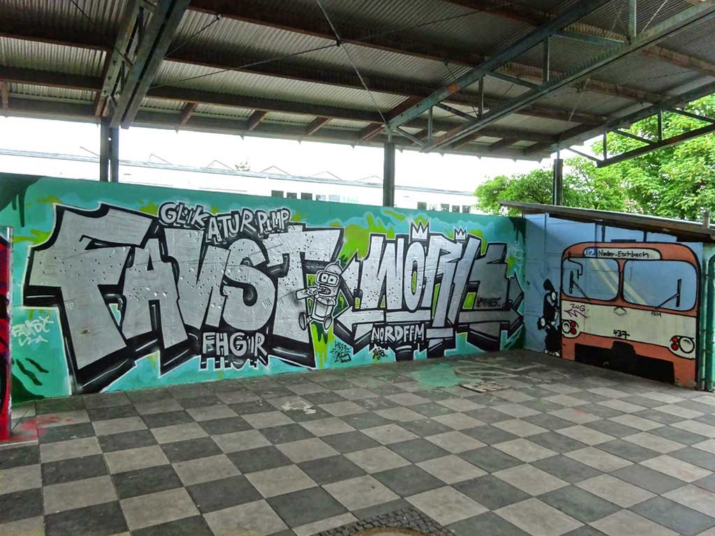 Graffiti beim Jugenhaus Am Bügel