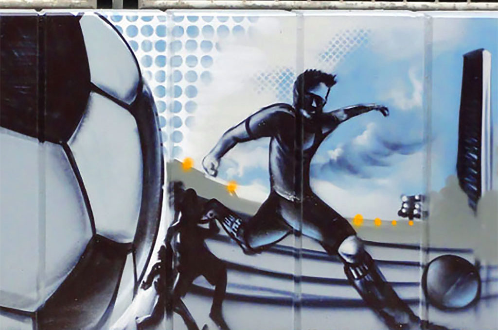 Fußball-Graffiti