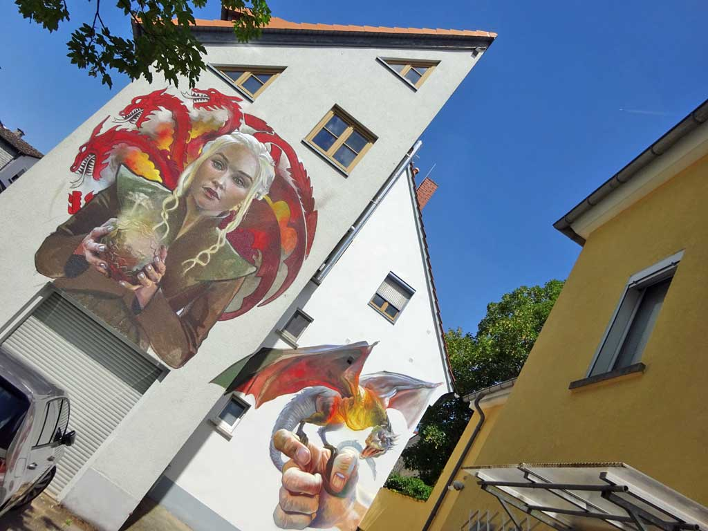 Graffiti in Bad Vilbel - Game of Thrones