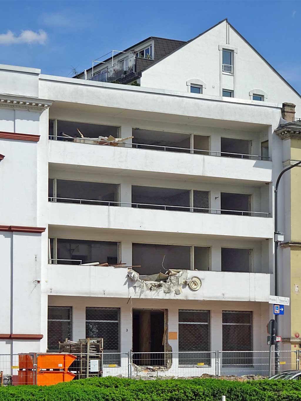Baustelle in Frankfurt - Café Wien in Bornheim
