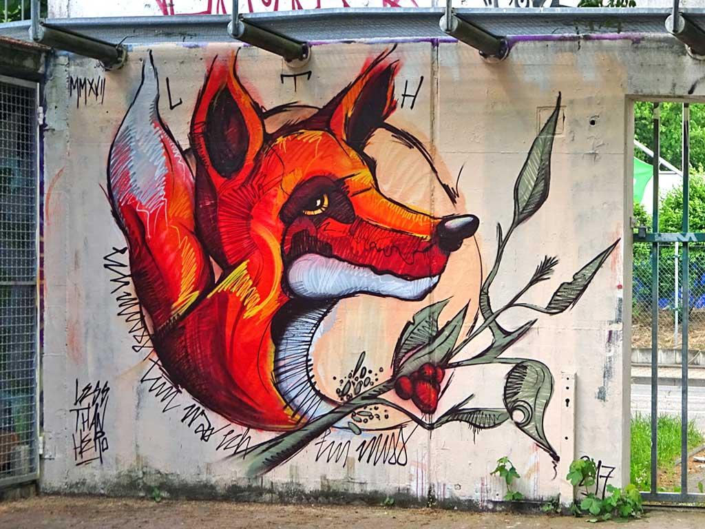 Fuchs-Graffiti von LTH