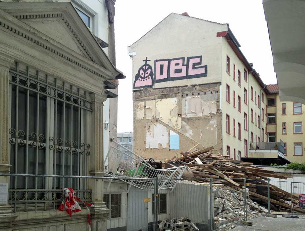 Rückseite der Baustelle in der Höhenstraße