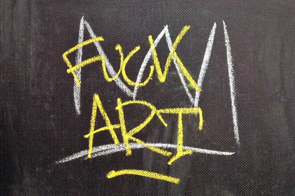 Fuck Art vs Basquiat Crown