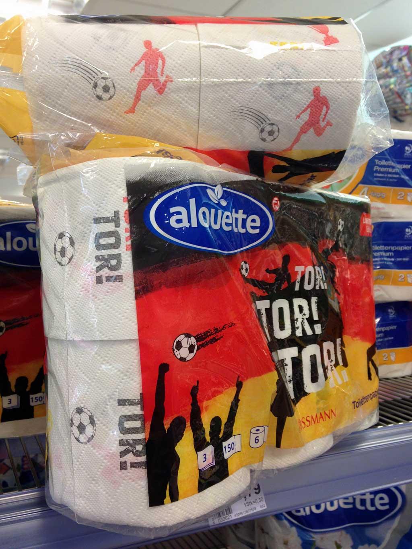 Toilettenpapier mit Fußballmotive