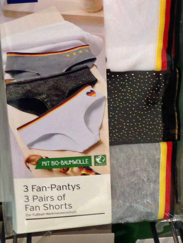 Baumwoll-Shorts mit schwarz rot gold