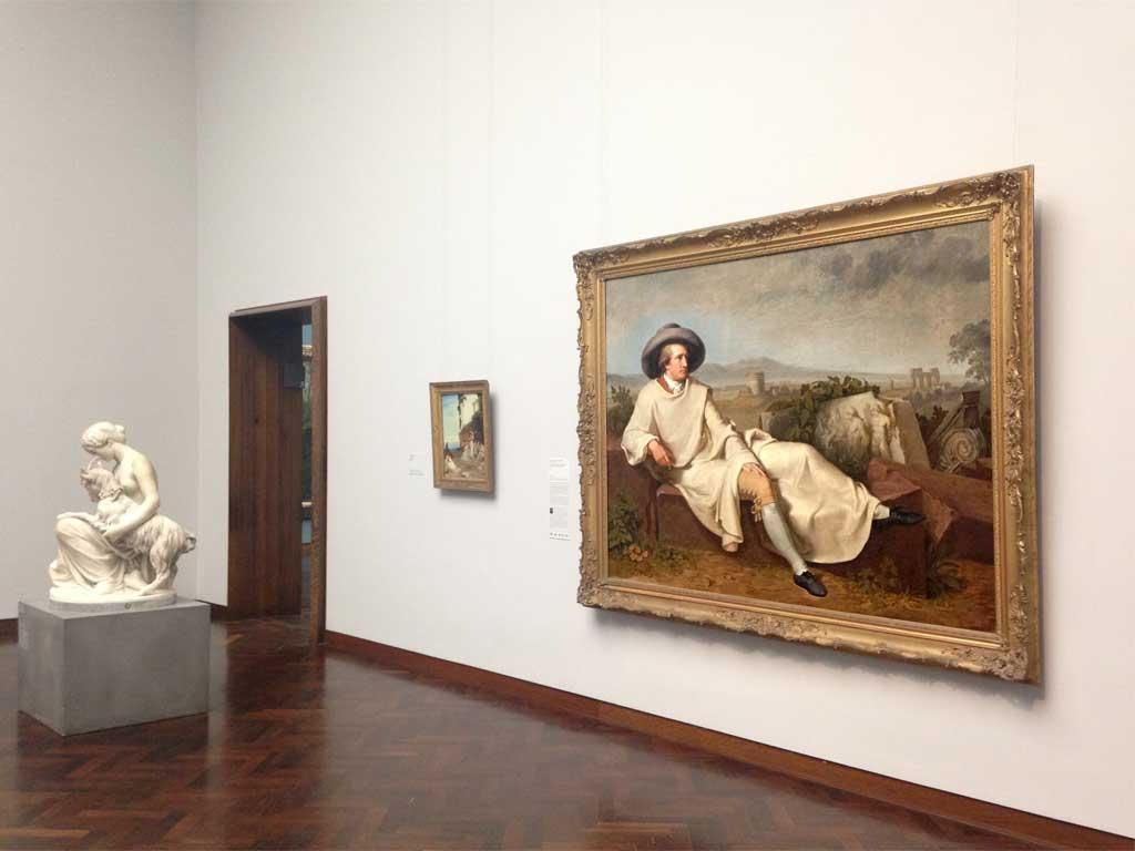Gemälde mit Goethe im Städel