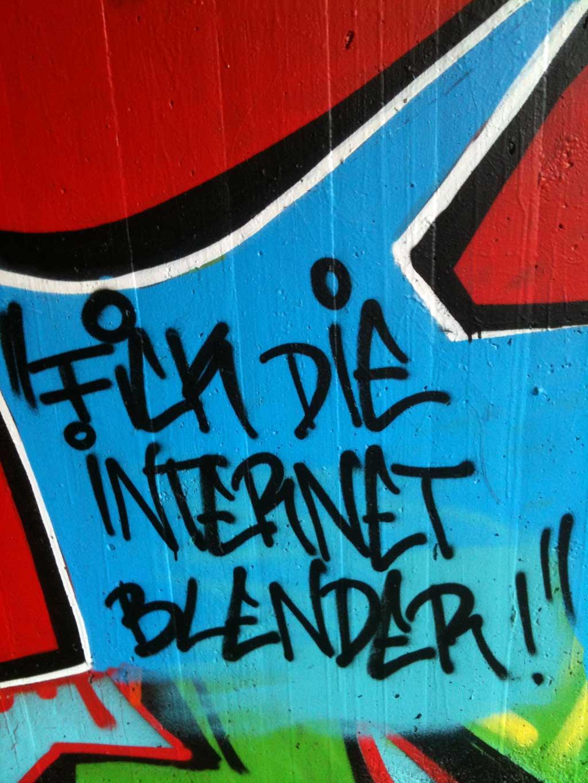 Streetart über Internet- und Social-Media-Themen