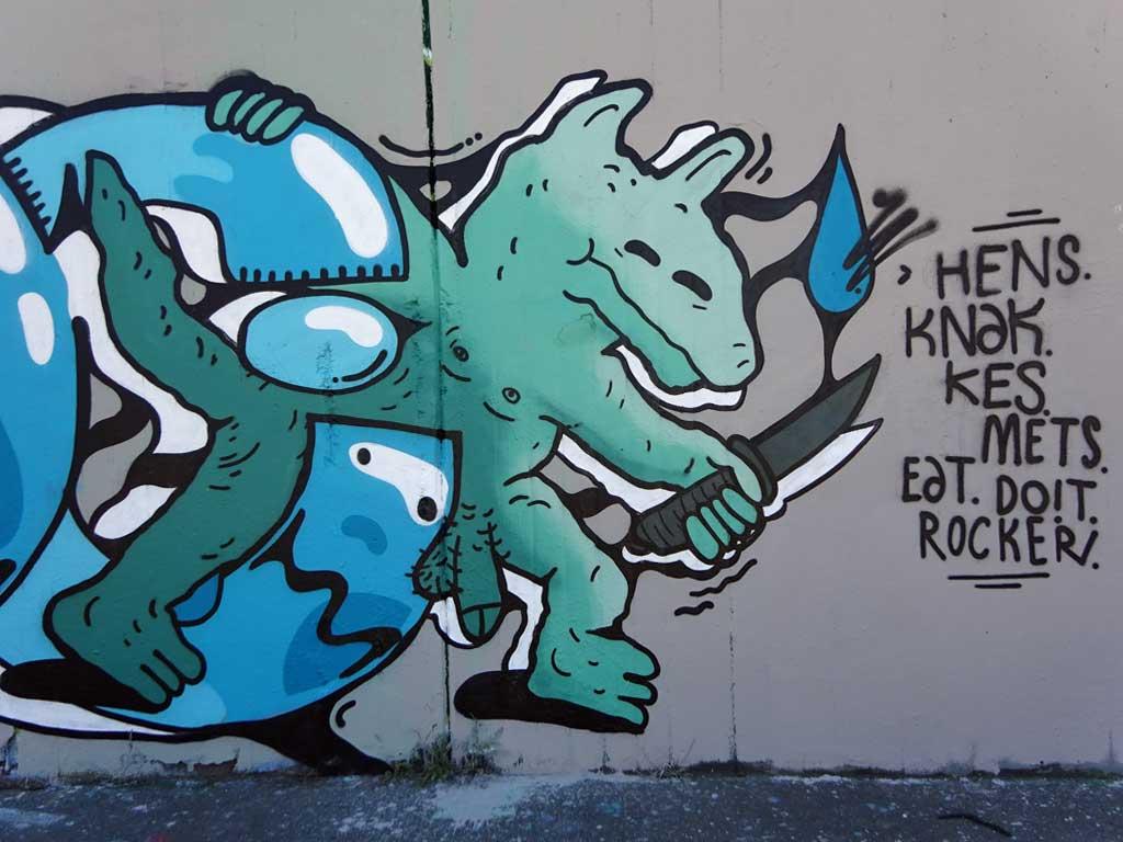 The Ill Zoo-Graffiti bei der Hall of Fame in Frankfurt