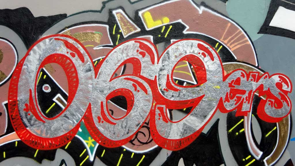 069ers-Graffiti bei der Hall of Fame in Frankfurt