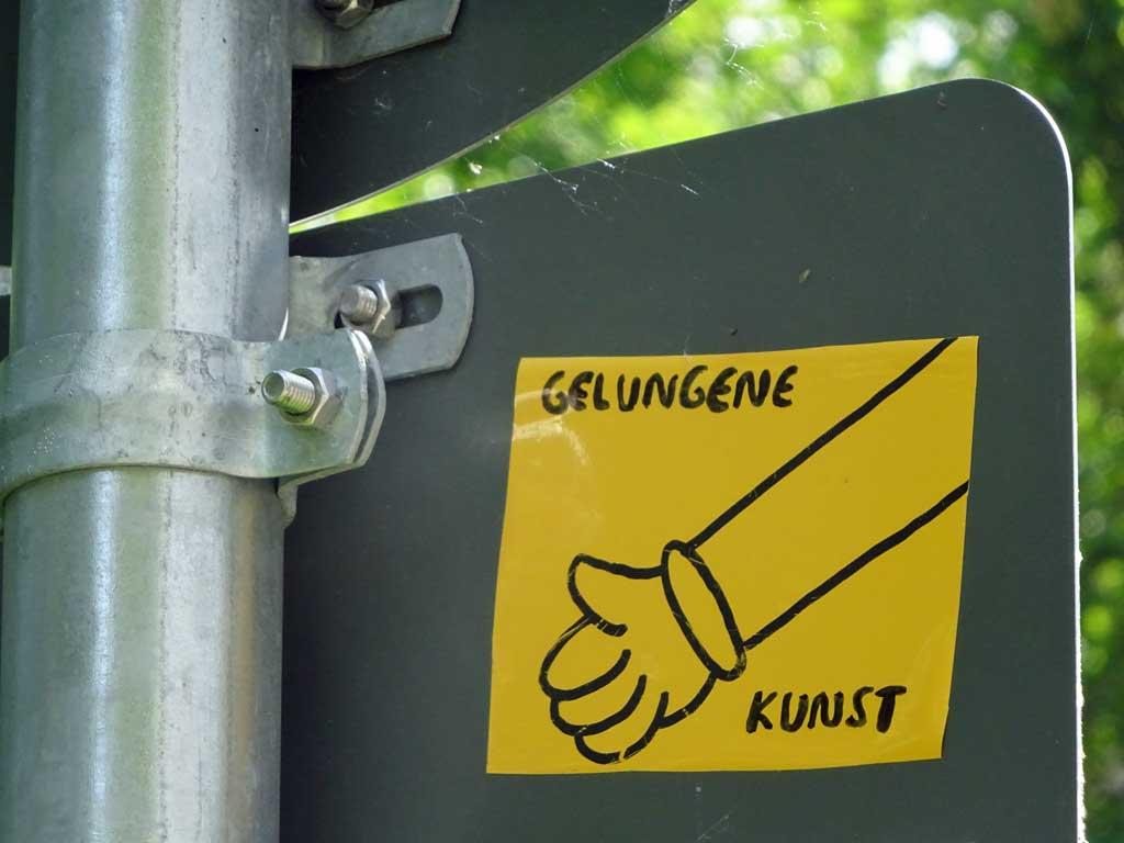 Aufkleber in Frankfurt - Gelungene Kunst