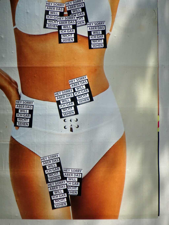 Straßen-Aufkleber in Frankfurt - Hey sorry, aber ich will das gar nicht sehen