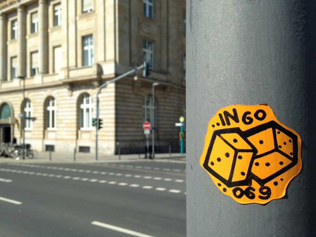 Aufkleber in Frankfurt - Ingo 069