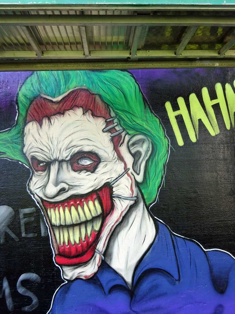 The Joker-Graffiti am Niddapark