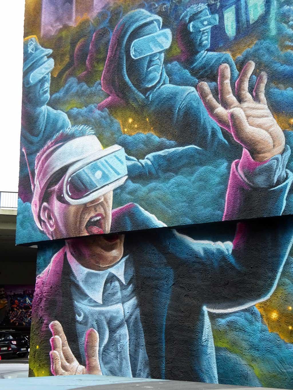 Mural von Tetal und Sock beim Meeting Of Styles 2018 in Wiesbaden