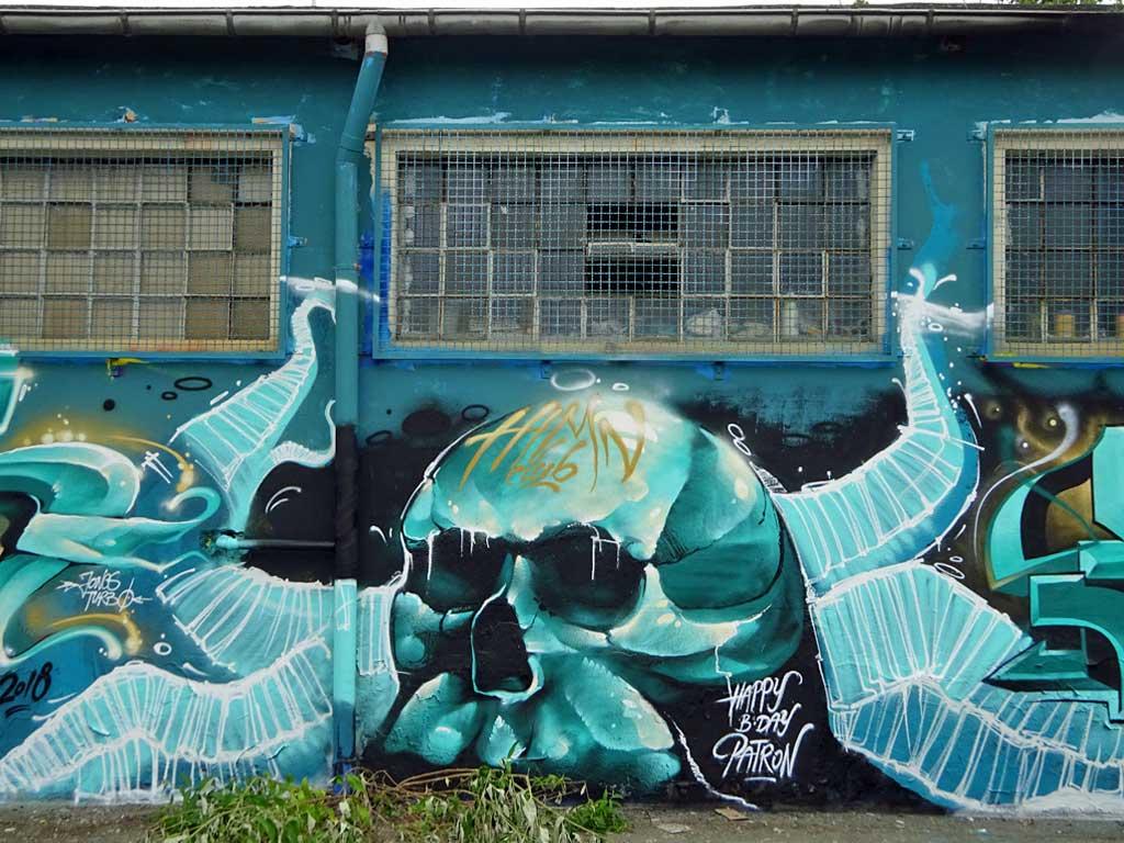 Graffiti in Mainz-Kastel - Moes- Desan - Keib