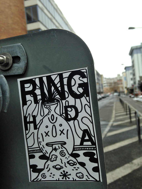 Aufkleber in Frankfurt - Ring HDA