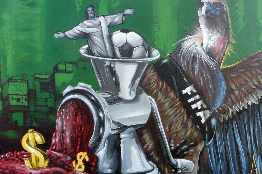 Anti FIFA Graffiti in Frankfurt
