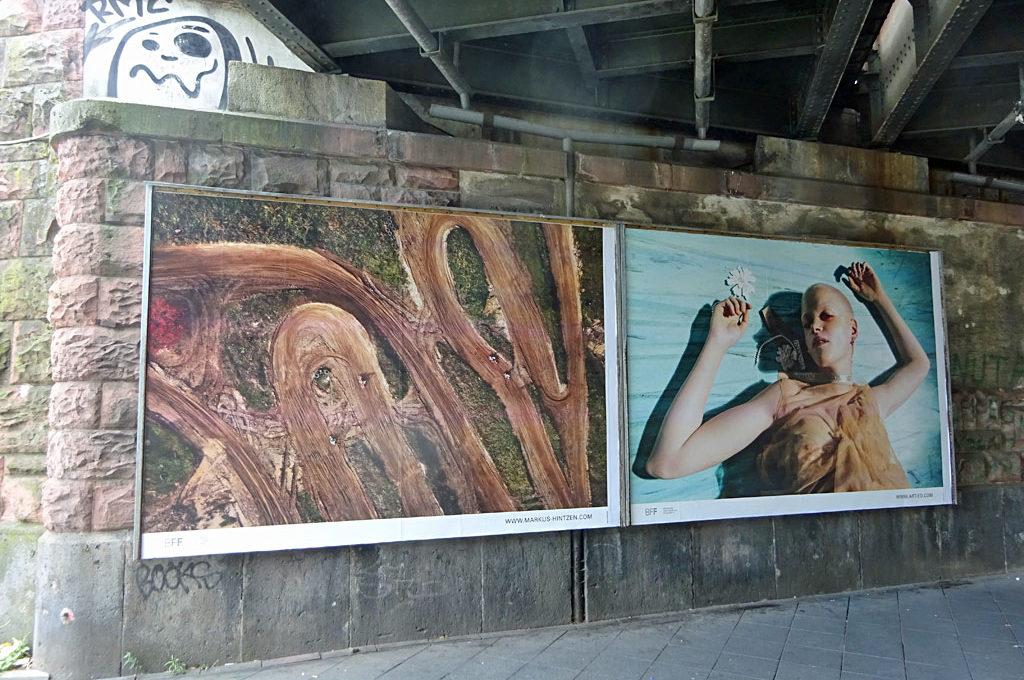 Unner de Brigg - Aktion des Berufsverbandes Freie Fotografen und Filmgestalter in Frankfurt