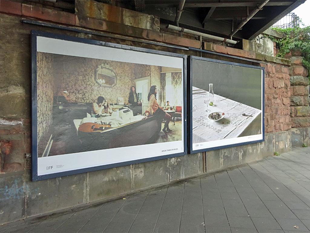 Fotoausstellung in der Hanauer Landstraße in Frankfurt