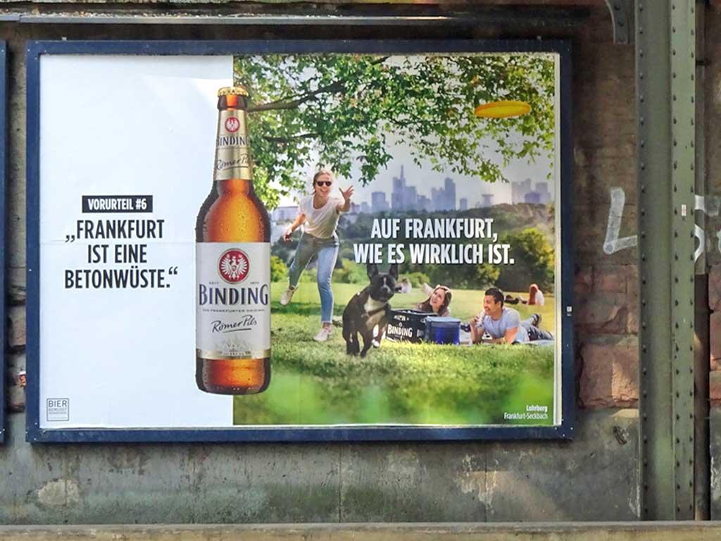 Binding Römer Pils - Auf Frankfurt wie es wirklich ist