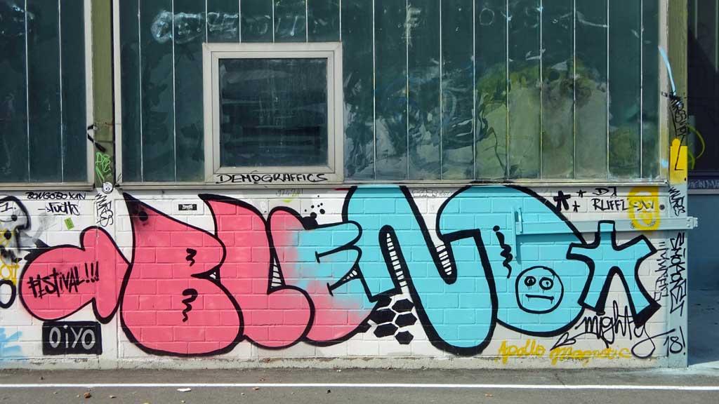 Graffiti beim Blend Festival in Frankfurt am Main