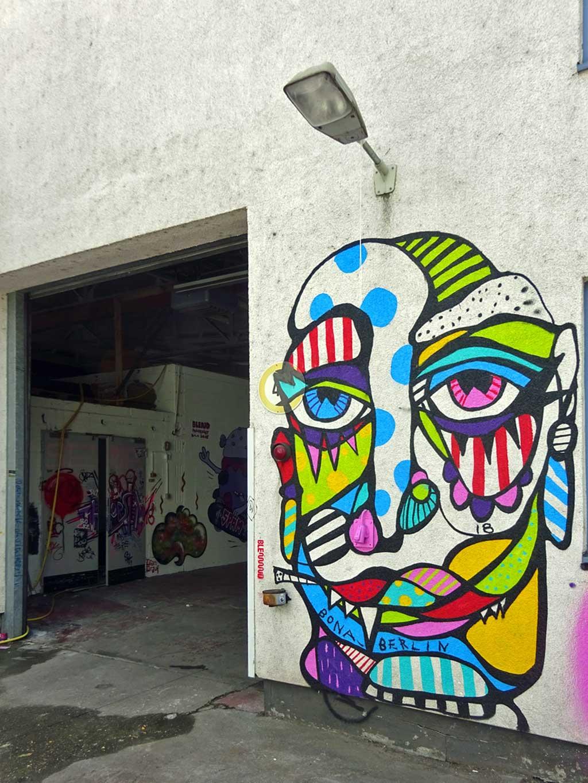 Bona - Streetart beim Blend Festival in Frankfurt