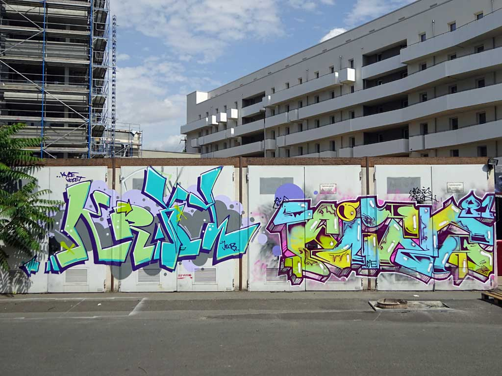 Krixl - Graffiti beim Blend Festival in Frankfurt