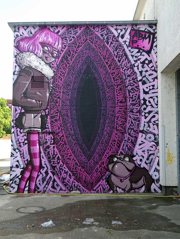 Niker, Engin Dogan - Streetart beim Blend Festival in Frankfurt