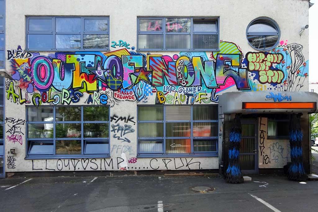 Out Of None - Graffiti beim Blend Festival in Frankfurt