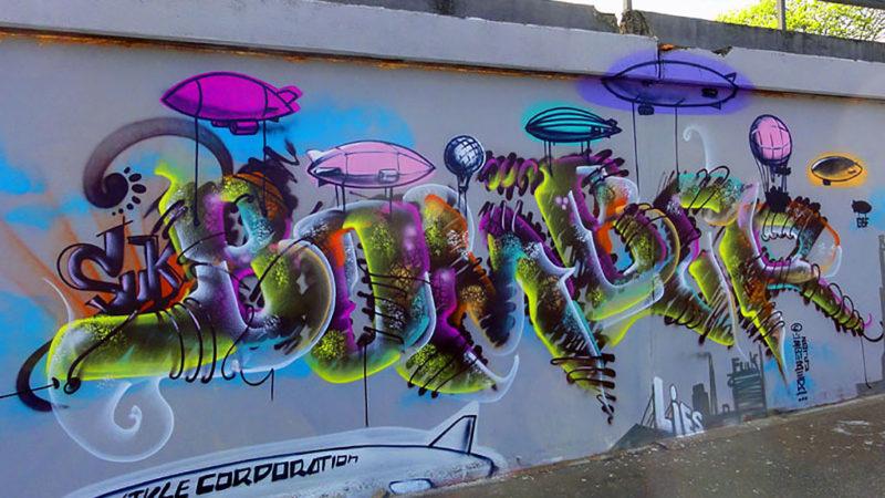 Bomber-Graffiti in Frankfurt